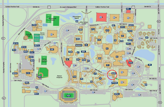 Fiu Mmc Map Fiu Campus Map | States Maps